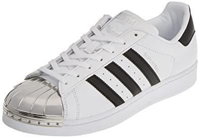adidas Superstar Metal Toe, Baskets Basses Femme, Blanc (Footwear White/Core Black