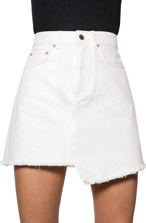 IVYREVEL Raw Edge Denim Skirt Falda para Mujer