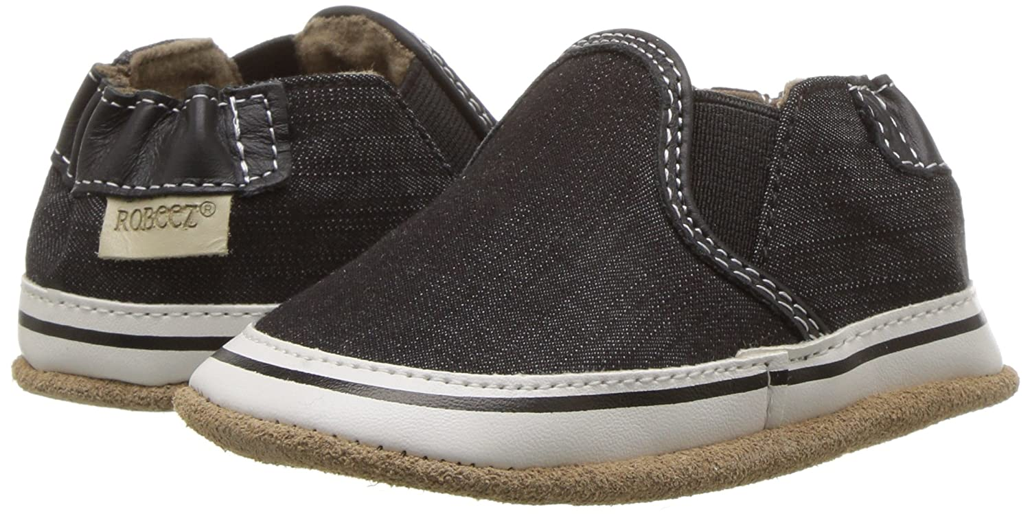 K Robeez Boys Slip On Soft Soles Liam Crosshatch