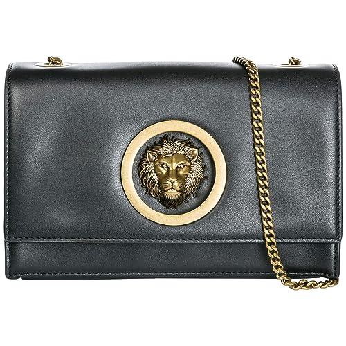 98d8081fa38 Versus Versace women Lion Head clutch bag black - antique gold:  Amazon.co.uk: Shoes & Bags