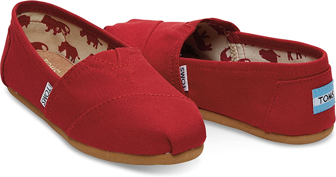 TOMS Womens Classic Slip-Ons Red 37-38