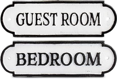 Cast Iron WASHROOM Country Farmhouse Sign Home Decor Black /& White color