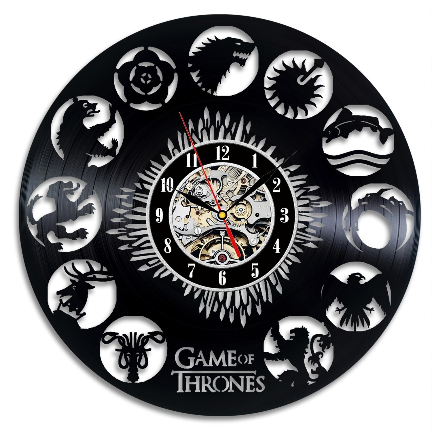 Game of Thrones Vintage Vinyl Clock Wall Decoration Gift