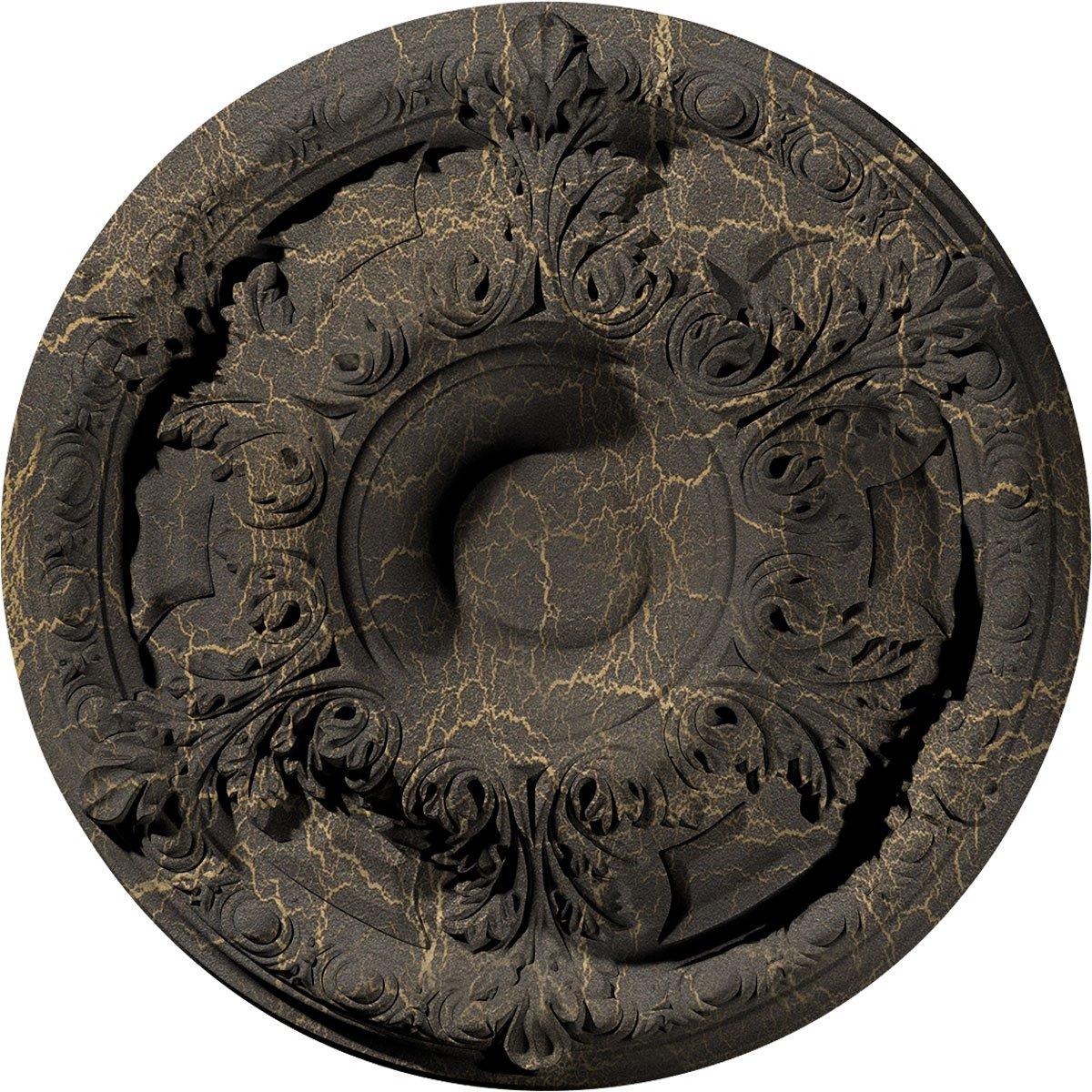 Ekena Millwork CM19GASHC Granada Ceiling Medallion, Stone Hearth Crackle