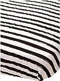 Little Unicorn Cotton Muslin Fitted Sheet - Ink Stripe, Black, White