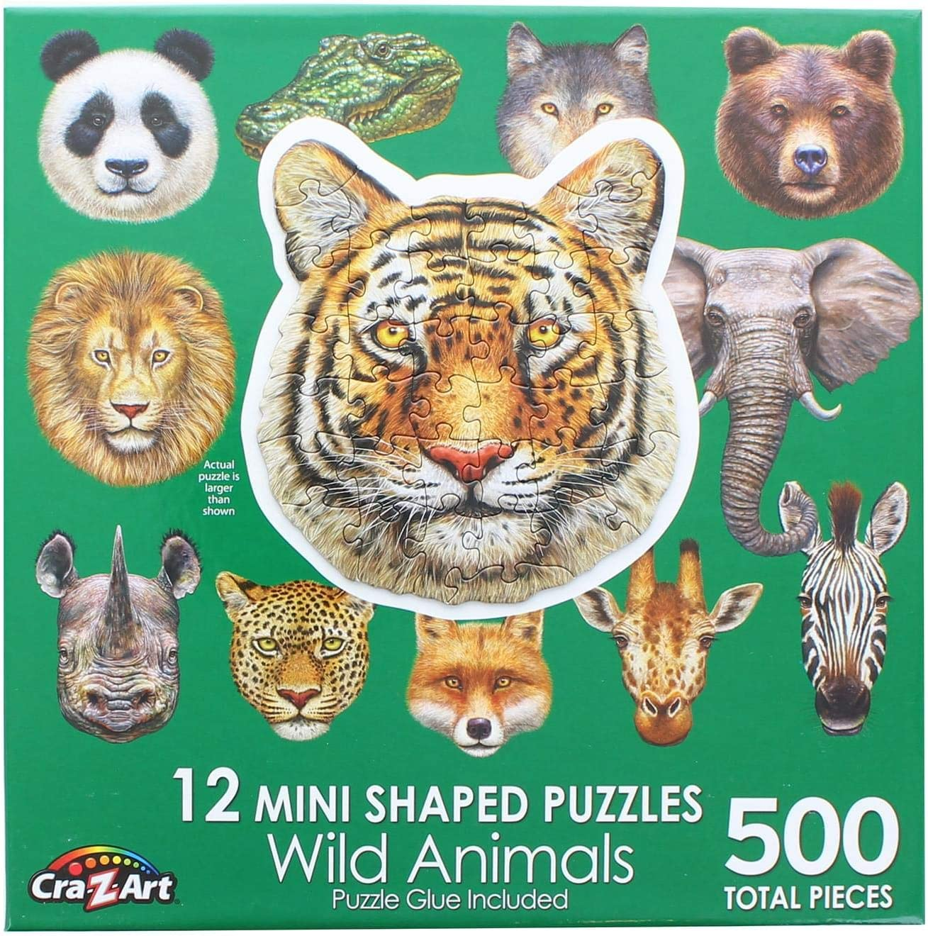 LPF Wild Animal : A Collection of 12 Mini Shaped Puzzles Totaling 500 color coded pieces By Artist: Sergio Botero