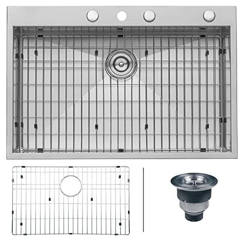 Ruvati RVH8001 Drop-in Topmount 16 Gauge Zero-Radius Kitchen Sink