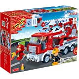 Banbao - 290 Piece Fire Truck Compatible with the Leading Brand - Boy Boys Child Kids - Ultimate Construction Building Blocks Christmas Xmas Present Gift Age 5+