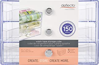 Deflecto Washi Tape 3 Drawer Organiser, 26.7 x 15.7 x 17 cm