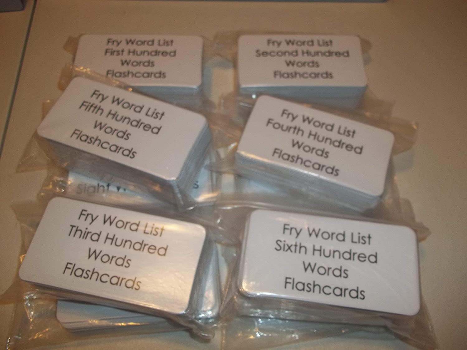 First thru Tenth. The Entire Fry Sight Word Flashcard Set