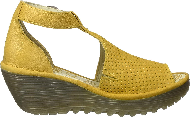 Fly London YALL962FLY voor dames Open teen sandalen Gele hommel 014
