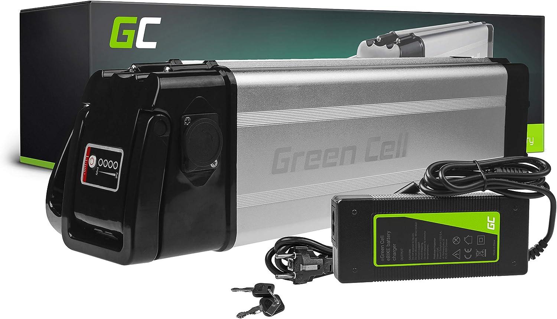 GC® Bateria Bicicleta Electrica 48V 12Ah Silverfish Li-Ion E-Bike Batería y Cargador