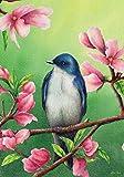 "Bluebird Spring House Flag Floral Bird 28"" x 40"" Briarwood Lane"