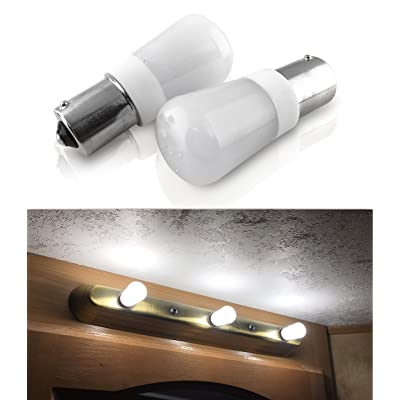 SRRB Performance 20-99/1141 / 1156 Vanity Replacement 12V or 24V LED Bulb for RV Camper Trailer Motorhome 5th Wheel and Marine Boat (Natural White): Home Improvement