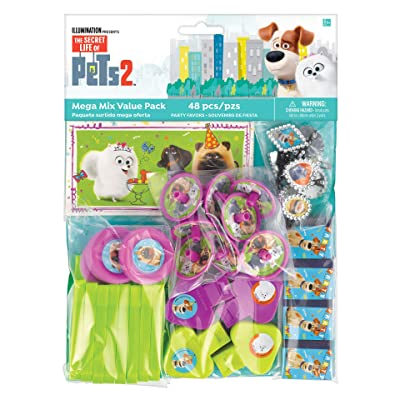 """""""The Secret Life Of Pets 2"""" Assorted Party Favors, 48 Ct.: Toys & Games"""