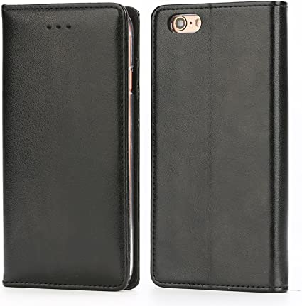 Iphone 6 E >> Iphone 6s Plus Leather Case Iphox Premium Folio Leather Wallet Case With Kickstand Card Slots Magnetic Closure Hand Strap Flip Notebook Cover