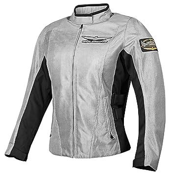Honda Chaqueta de motociclista para mujer Golding Mesh Touring Street, gris, peque?a