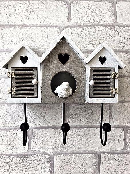 Piccola in legno da appendere Bird Table con funzione di cuore.