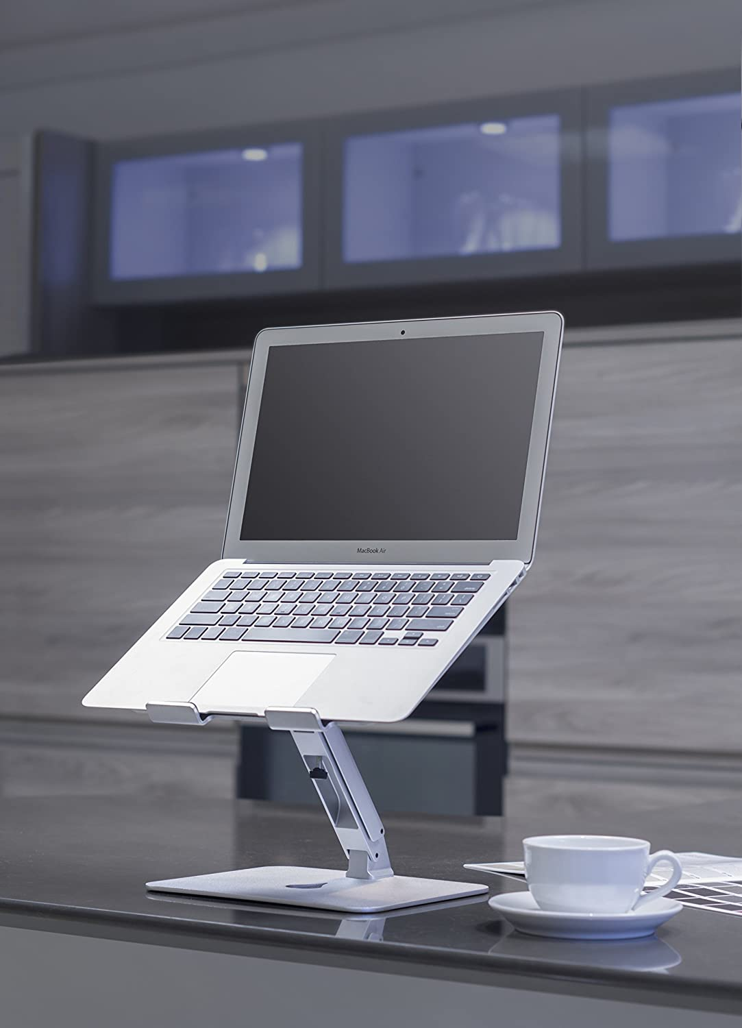 2-in-1 Portable Stand with 360 Degree Base Rotation for Smartphones and up to 15 Laptops