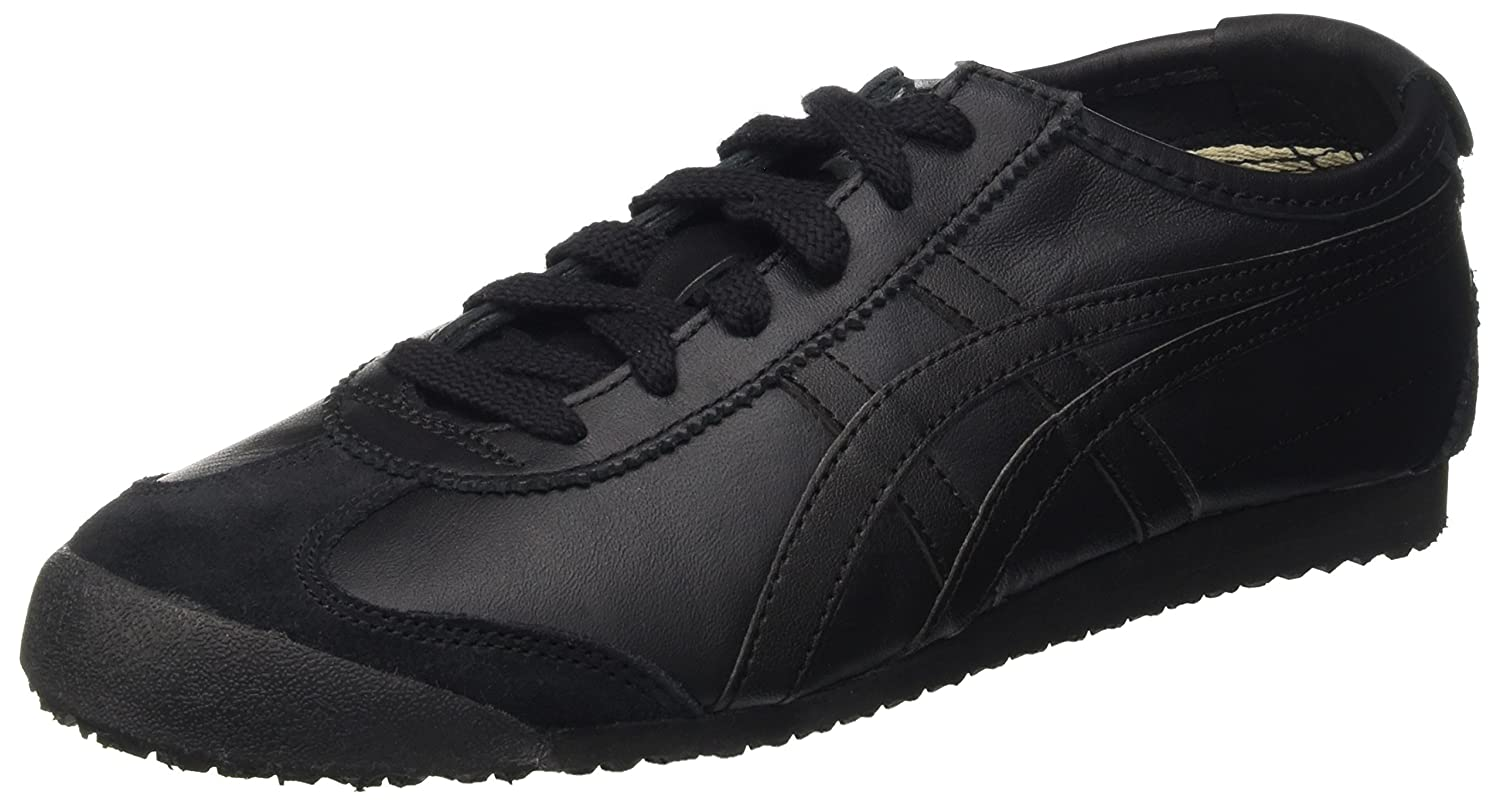 Asics Herren Mexico 66 Low-Top  42 EU|Schwarz (Black/Black 9090)