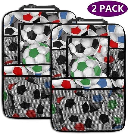 Sootot Balones de fútbol Coche Asiento Trasero Organizador Multi Almacenamiento Bolsillo Coche Asiento Trasero Protector 2 Pack: Amazon.es: Coche y moto