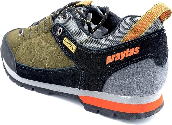 Praylas Layna Kaki/Negro - Zapatilla Treking con Membrana Impermeable: Amazon.es: Zapatos y complementos