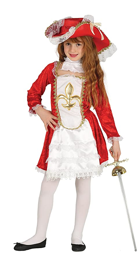 Guirca-87526 Costume Moschettiera Bimba 10 12 Anni 75b73b6c039f