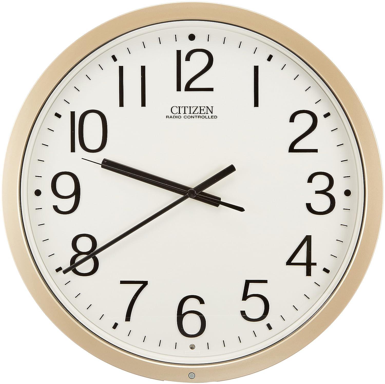 シチズン 掛け時計 電波 アナログ パルウェーブM603B オフィス タイプ 銀色 CITIZEN 4MY603-B19 B000HIJDIA