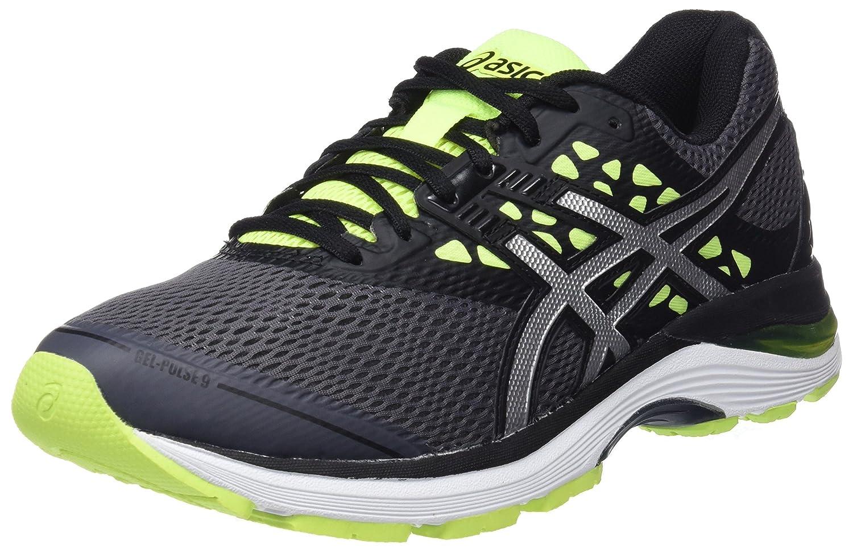 Asics Gel-Pulse 9, Zapatillas de Running para Hombre 47 EU|Gris (Carbon/Silver/Safety Yellow 9793)