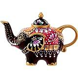 Elefant Kanne Design: schwarz / rot - Teekanne aus Porzellan mit Deckel 0,8l 18