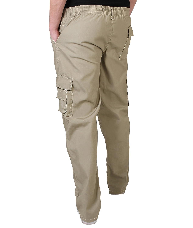 25e0560a9c KRISP Herren Praktische Einfarbige Lange Cargo Combat Hose: Amazon.de:  Bekleidung