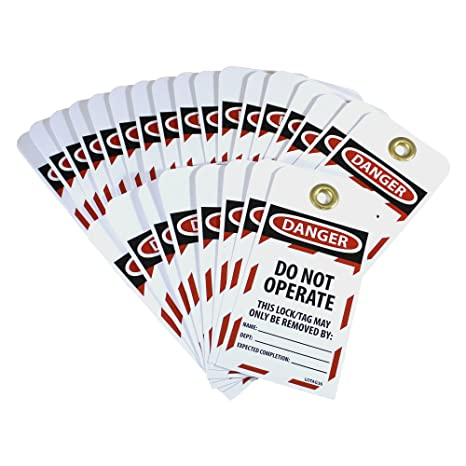 Unrippable Vinyl DO NOT Operate Pack Pack of 25 NMC LOTAG36-25 Lockout Tag,Danger 2- 6 Height x 3 Width Red//Black on White
