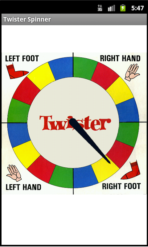 graphic regarding Twister Spinner Printable named Twister Spinner: Amazon.ca: Appstore for Android