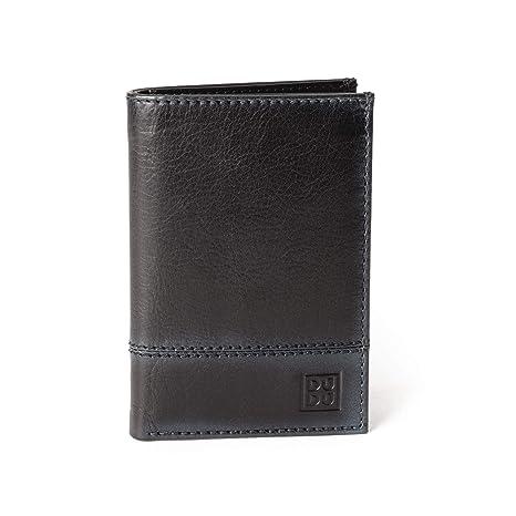 355b8578cc Portafoglio uomo verticale pelle alta qualità con 9 tasche porta carte  tessere DUDU Nero