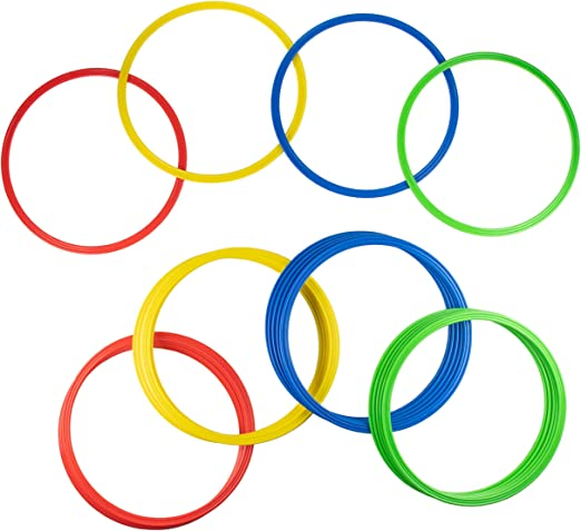 12Pcs Football Speed Agility Training 16 Inch Rings Hoops Set Multi Color Soccer