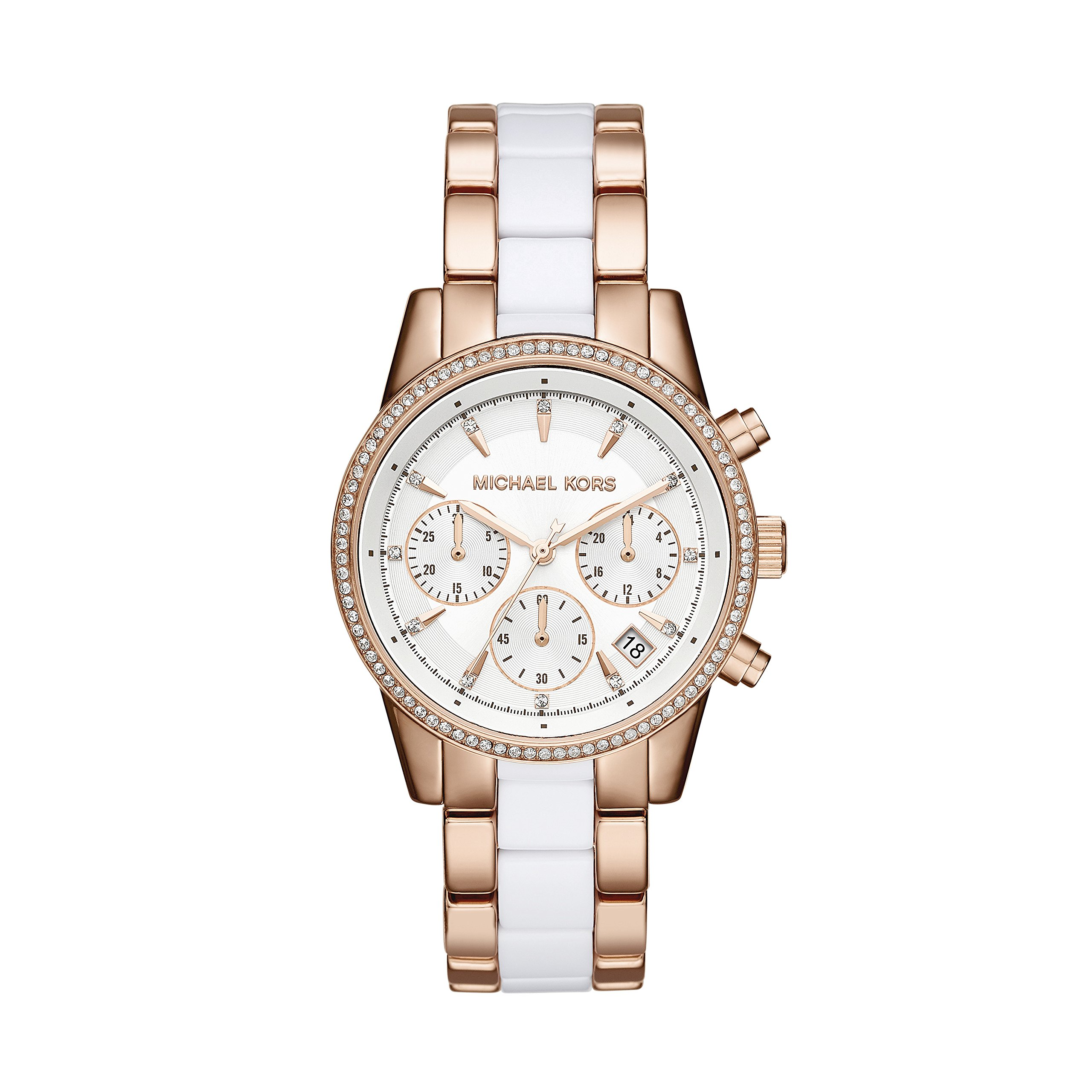 Michael Kors MK6324 Ladies Ritz Rose and White Chronograph Watch by Michael Kors