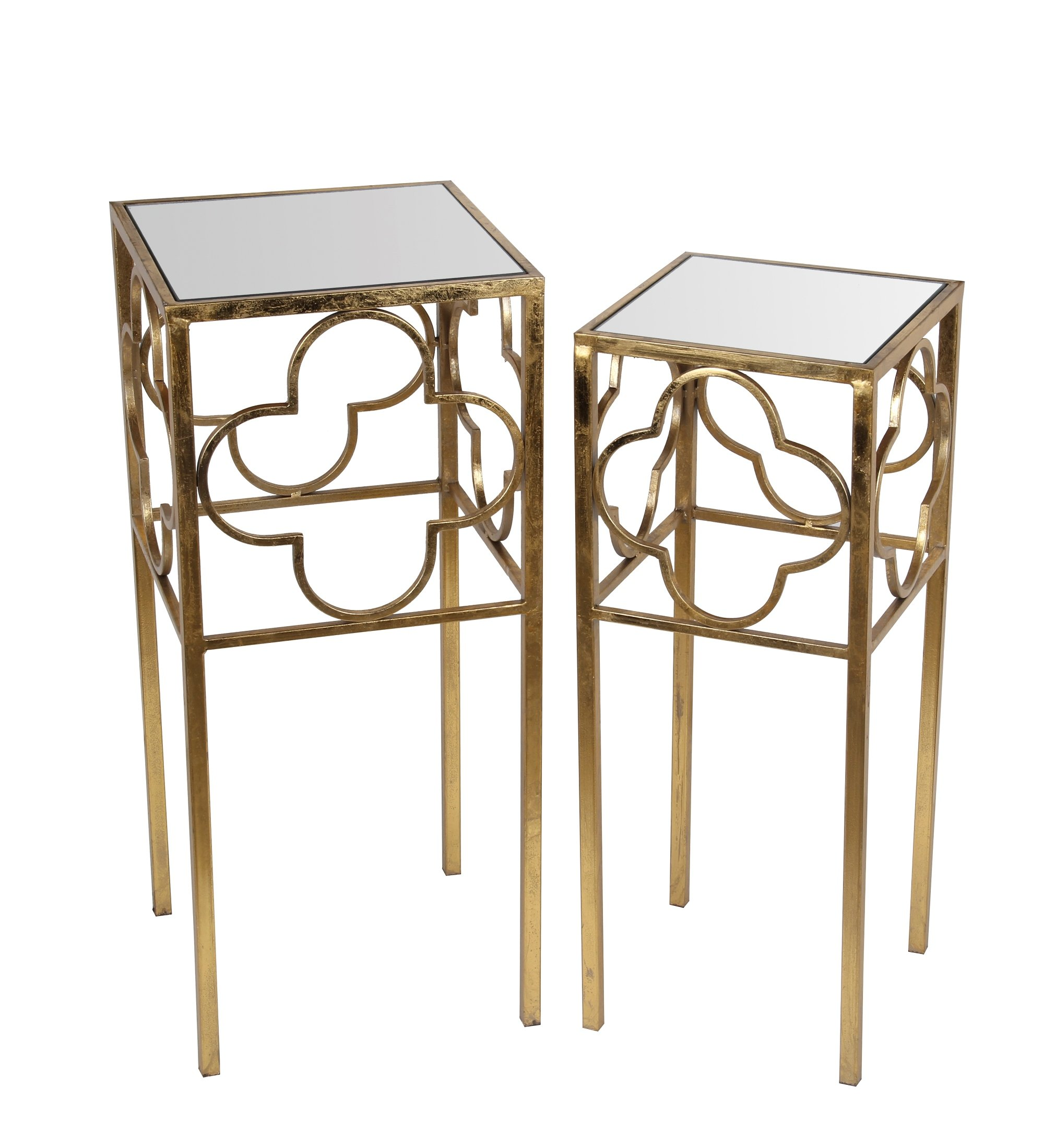 Privilege 18978 2 Piece Acct Leaf Table, Gold