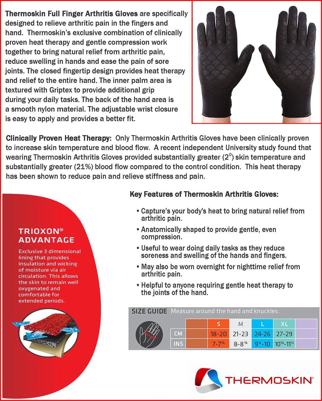 Thermoskin Full Finger Arthritis Gloves, Black, Medium by Thermoskin (Image #4)
