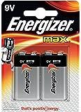 Energizer MAX Alkaline 9 V Batteries, 2 Pack