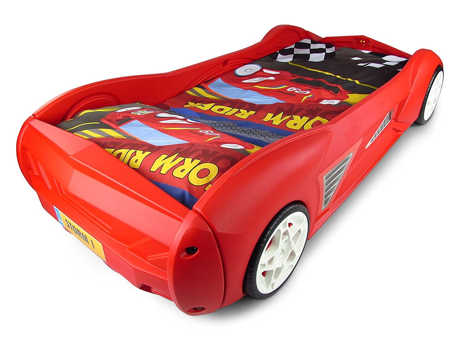 Storm Childrens Racing Car Bed With Mattress: Amazon.co.uk: Kitchen U0026 Home