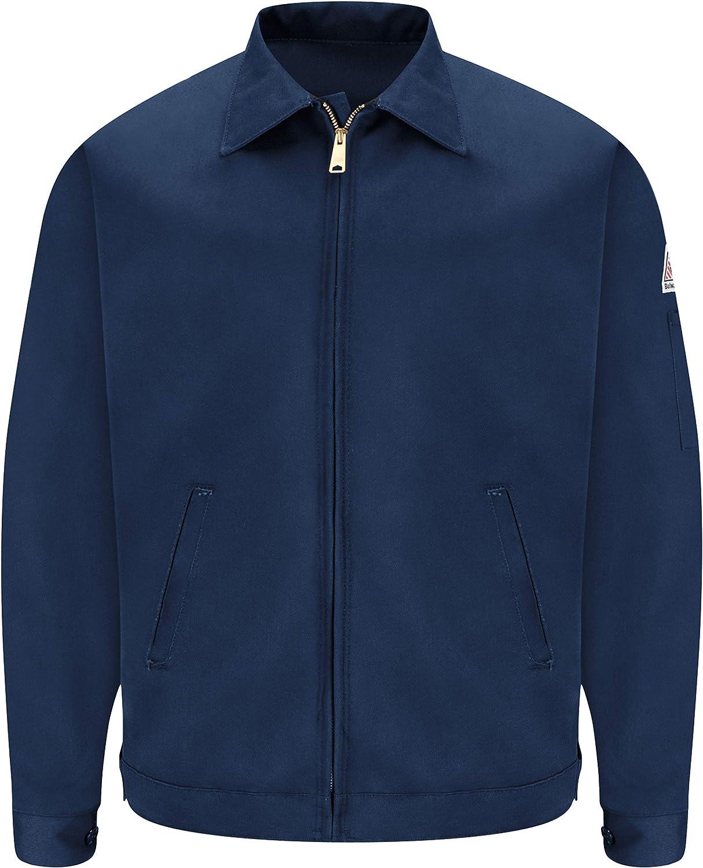 Bulwark Men's Flame Resistant 9 Oz Twill Cotton Excel Fr Zip-Out Jacket, Navy