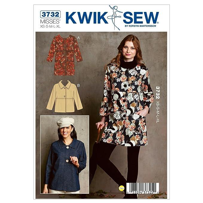Kwik Sew Mustern K3732, Größe XS klein – mittel – groß – Extra große ...