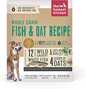 The Honest Kitchen Whole Grain Fish & Oats Dehydrated Dog Food, 10 lb box
