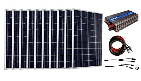 Kit di pannelli solari eco worthy da w con pannello a griglia