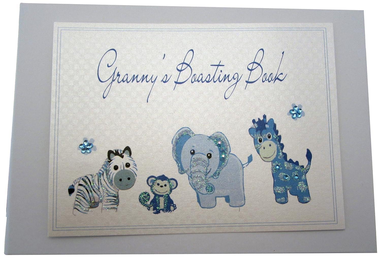 White Cotton Cards Granny/'s Boasting Book Photo Album Tiny, Blue