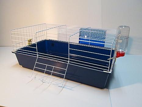 Grande interior Conejo Guinea Pig Jaula 120 x 58 x 40, color azul ...