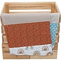 Colcha para bebé de ULLENBOOM ® con Arco Iris (manta de arrullo para bebé de 70 x 100 cm, ideal colcha para el cochecito…