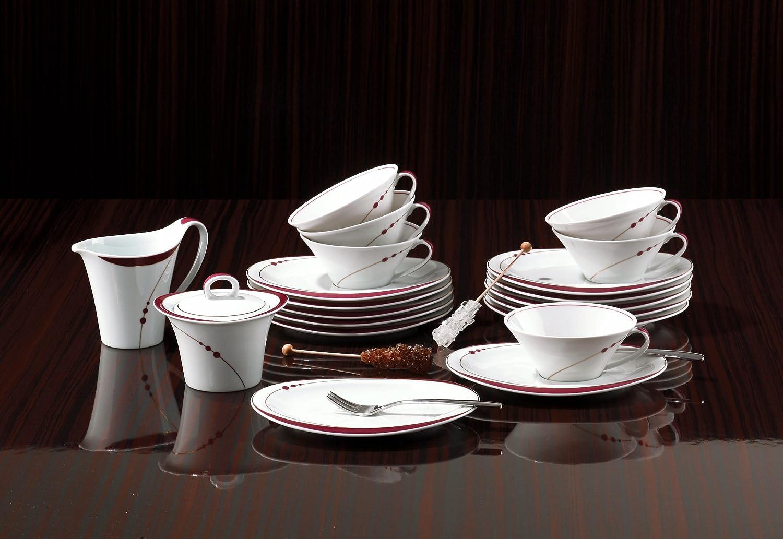 Seltmann Weiden Top Life Mirage 22539 Teller oval 25 cm Porzellan Dessertteller