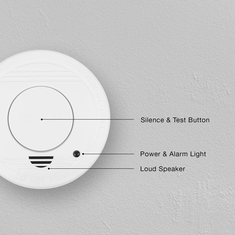 Smartwares FSM-11510 D/étecteur de fum/ée avec Pile 5 Ans 85dB Alarme pour Une Protection fiable Contre Les incendies