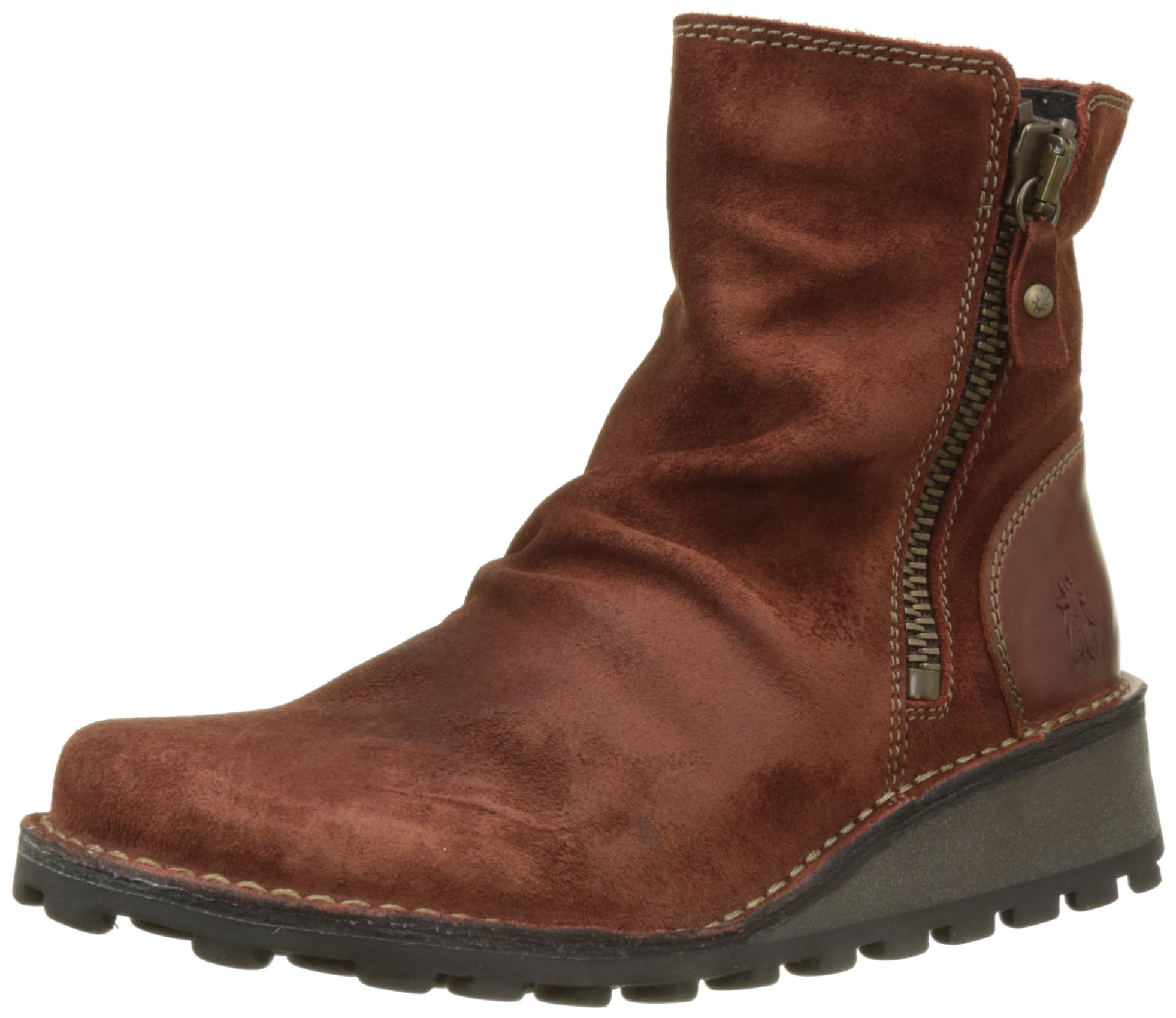 FLY London Women's MONG944FLY Ankle Boot, Brick Oil Suede/Rug, 38 M EU (7.5-8 US)